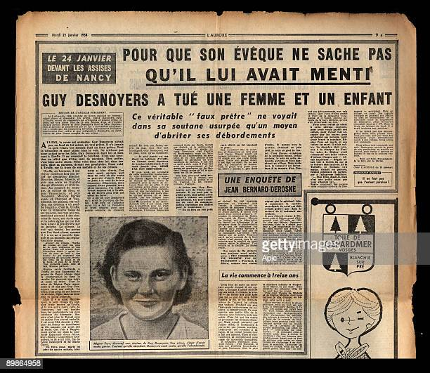 Article from french newspaper L'Aurore january 21 1958 about affair of Uruffe priest