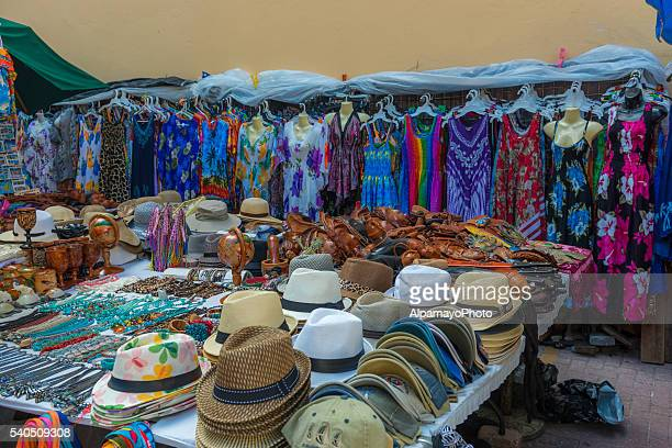 Articles of clothing at street market in Philipsburg, Saint Martin