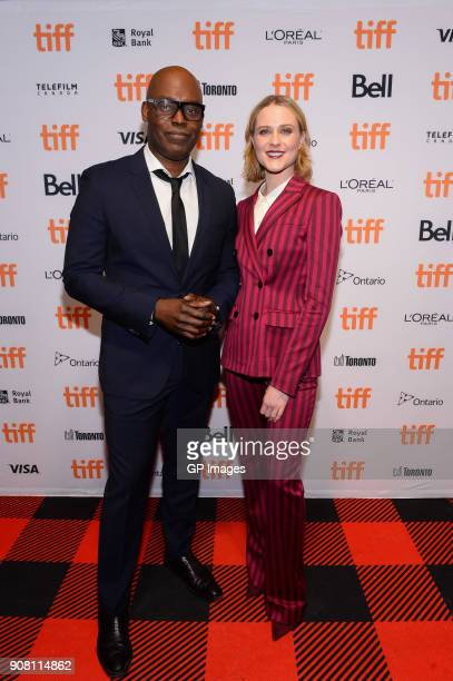 TIFF artictic director Cameron Bailey and actor Evan Rachel Wood attend the TIFF presents 'In Conversation With Evan Rachel Wood' at TIFF Bell...