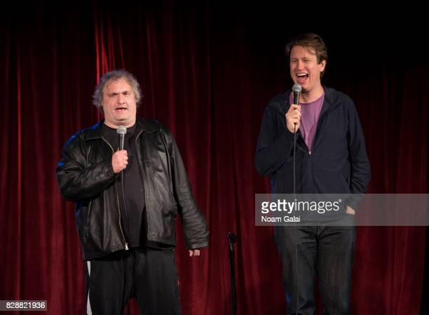 Artie Lange and Pete Holmes perform during HBO's Crashing Comedy Night With Pete Holmes Friends to mark the season one home entertainment release of...