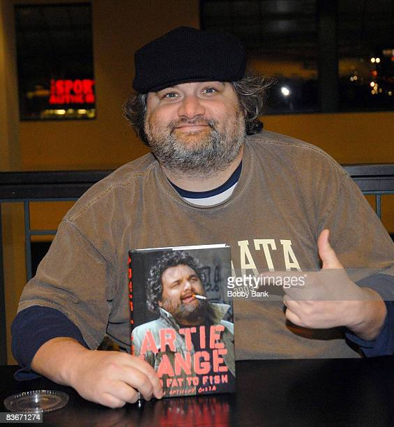 Artie Lange attends a signing for his new book Too Fat To Fish at Barnes Noble on November 12 2008 in Clifton New Jersey