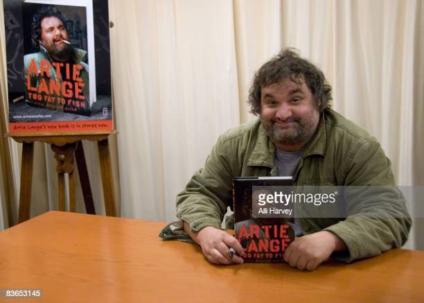 Artie Lange of SIRIUS XM's Howard Stern Show signs copies of Too Fat To Fish at Barnes Noble on November 11 2008 in New York City