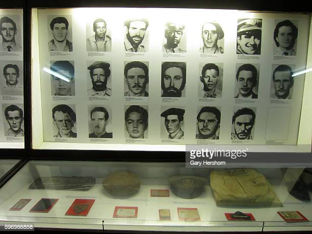Artifacts and photos are seen at the Museo Giron also known as The Bay of Pigs Museum at Giron in Playa Giron Cuba October 12 2014 The museum...