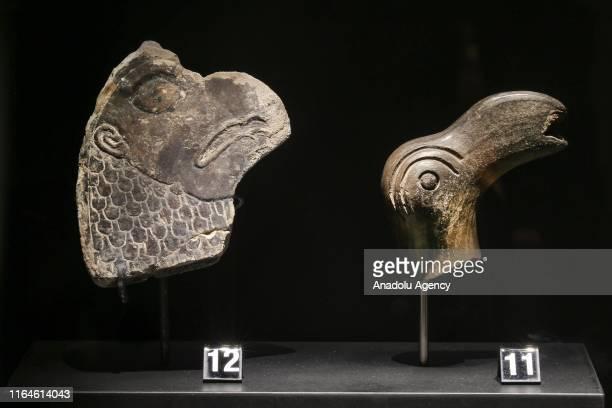"""Artifacts are displayed at Urartian Museum in Turkey's eastern Van province on August 28, 2019. In Van, Urartu Museum"""" is opened in the north of Van..."""