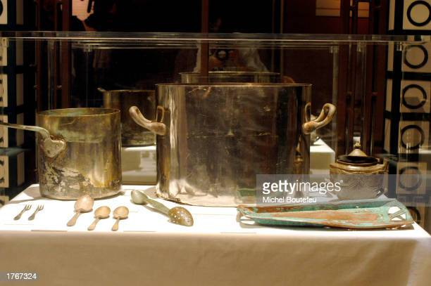 Artifacts from the Titanic are on display at 'TITANIC The Artifact Exhibit' at the California Science Center on February 6 2003 in Los Angeles...
