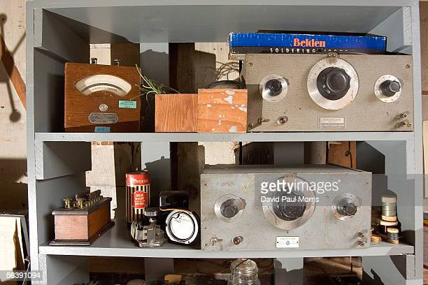 Artifacts in the newly renovated HP garage on Addison Avenue are seen December 8, 2005 in Palo Alto, California. In 1939 Bill Hewlett and Dave...