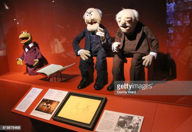 Artifacts on display during the Jim Henson Exhibition ribbon cutting at Museum of the Moving Image on July 20 2017 in the Queens borough of New York...