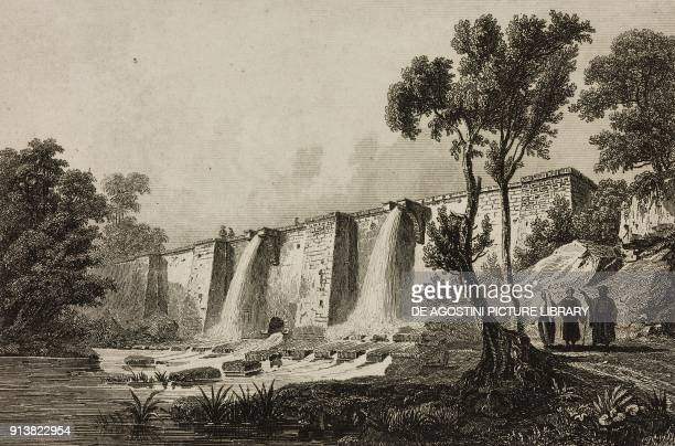 Artificial basin in the Belgrad Forest Istanbul Turkey engraving by Lemaitre Danvin and Cholet from Turquie by Joseph Marie Jouannin and Jules Van...