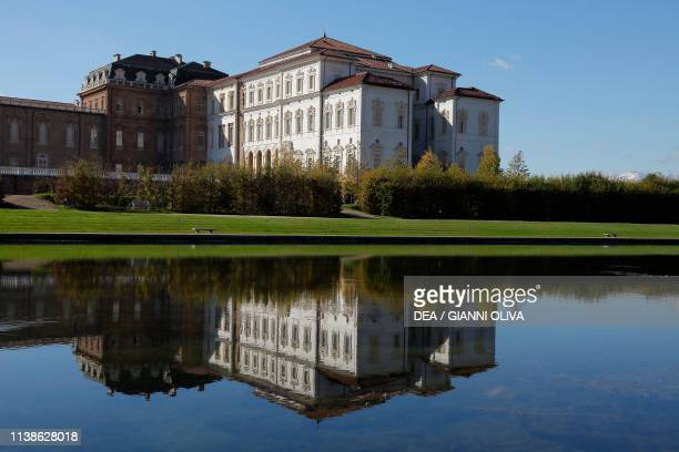 Artificial basin Palace of Venaria Reale Residence of the Royal House of Savoy Piedmont Italy