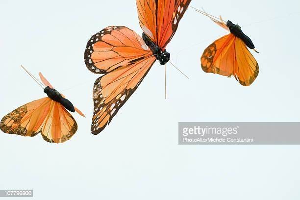 artificial butterflies - monarch butterfly stock pictures, royalty-free photos & images