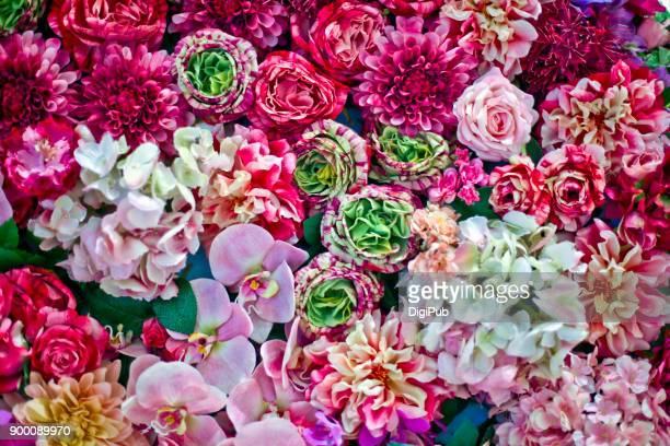 Artificial flower texture
