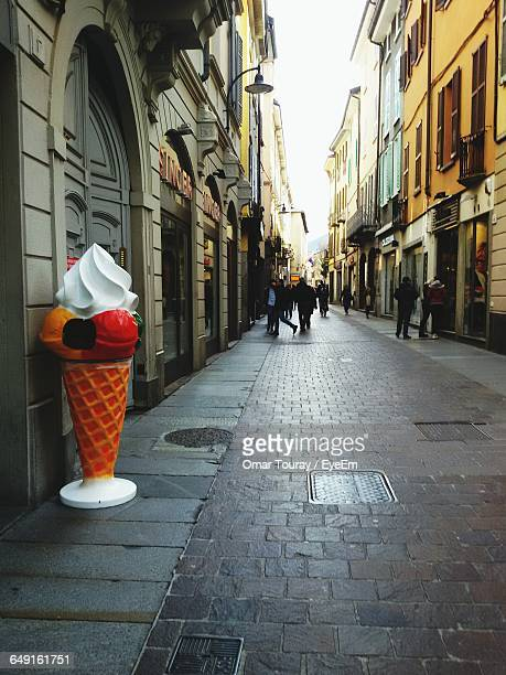 Artificial Ice Cream Cone By Building In City