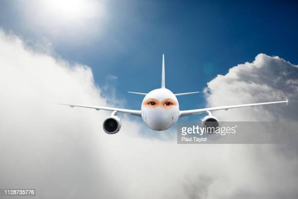 artificial intelligence airplane - avatar foto e immagini stock