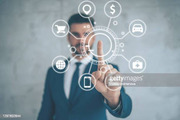 artificial intelligence and communication network concept. - graphical user interface stock pictures, royalty-free photos & images
