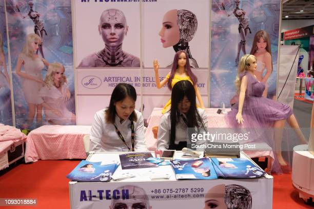 Artificial intelligence booth at the Asia Adult Expo 2017 at Hong Kong Convention and Exhibition Centre in Wanchai Hong Kong 30AUG17 [FEATURES] SCMP...