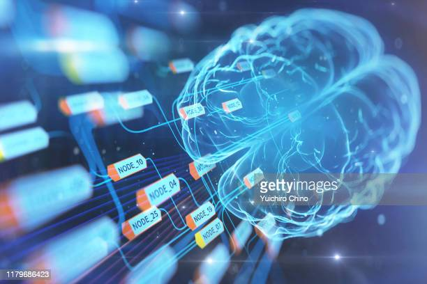 artificial intelligence brain and data - ai stock pictures, royalty-free photos & images