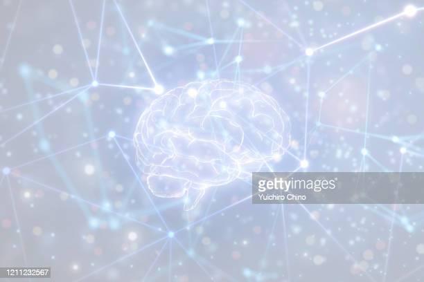 artificial intelligence brain in network - 人工知能 ストックフォトと画像