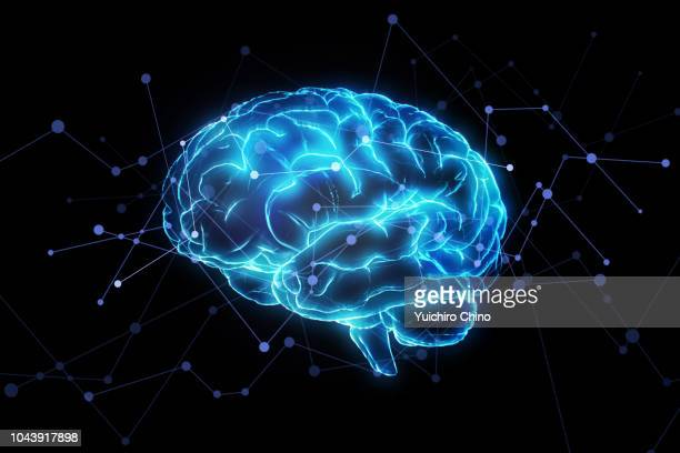 artificial intelligence brain network - memories stock pictures, royalty-free photos & images