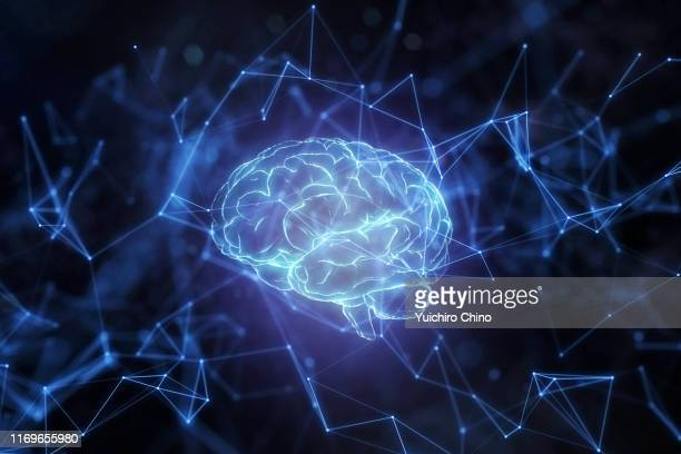 artificial intelligence brain network - educational subject stock pictures, royalty-free photos & images