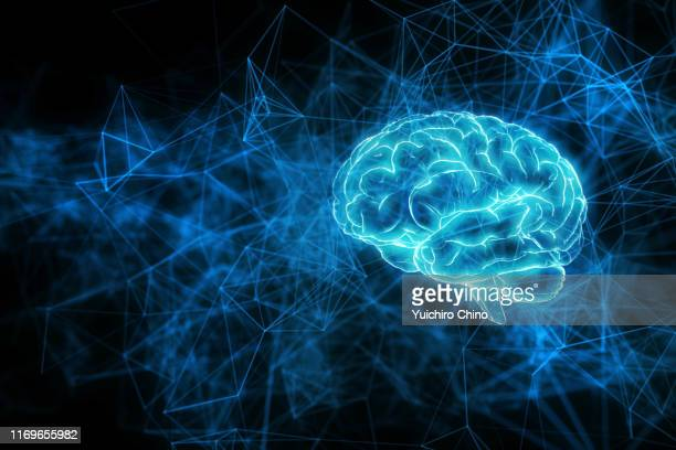 artificial intelligence brain network - information equipment stock pictures, royalty-free photos & images