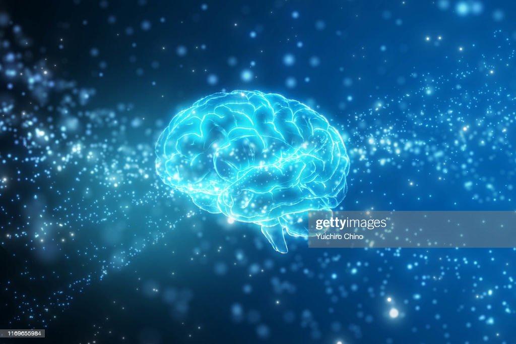 Artificial intelligence brain network : Stock Photo