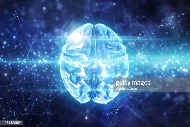 artificial intelligence brain - synapse stock photos and pictures