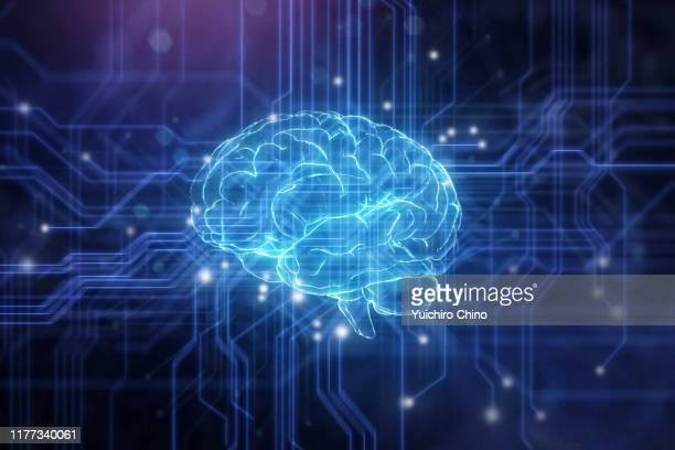 artificial intelligence brain - brain  stock pictures, royalty-free photos & images