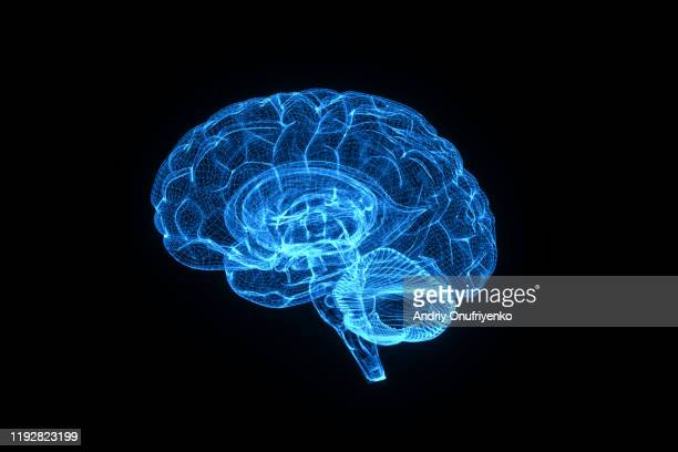 artificial intelligence brain - biomedical illustration stock pictures, royalty-free photos & images
