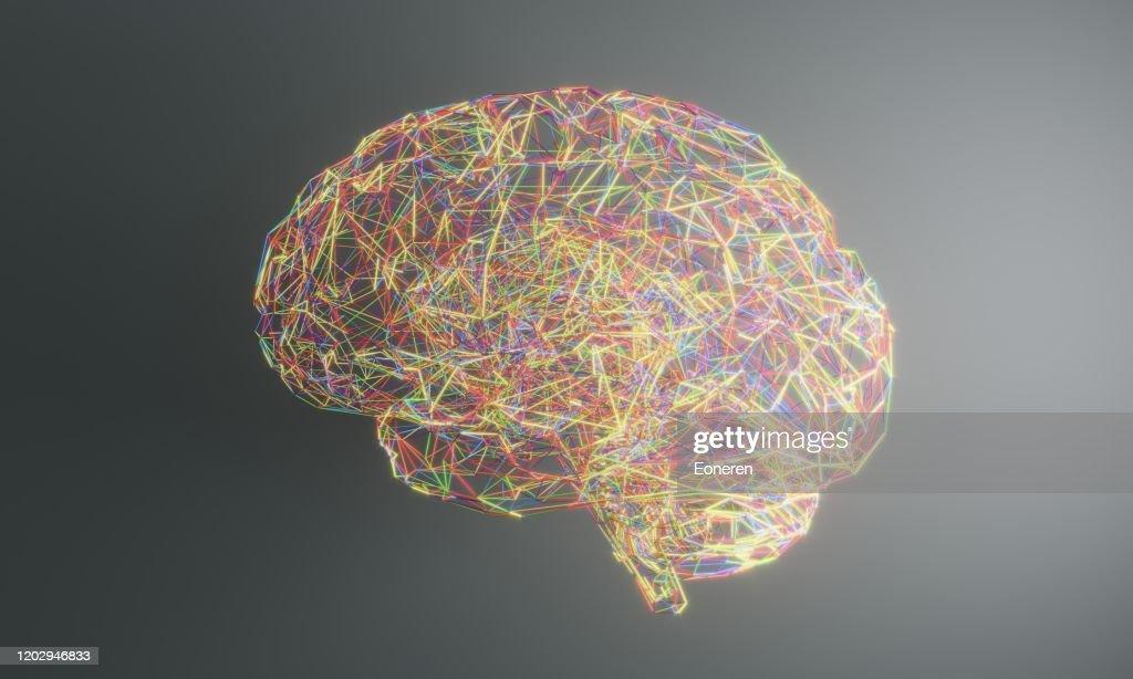 Artificial Intelligence Brain : Stock Photo