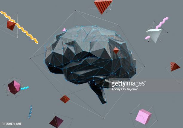 artificial intelligence brain - studying stock pictures, royalty-free photos & images