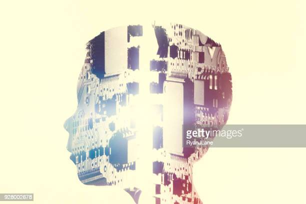 artificial intelligence child mind concept - synapse stock photos and pictures