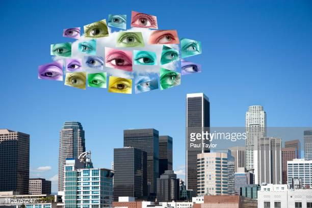 artificial intelligence cloud - avatar foto e immagini stock