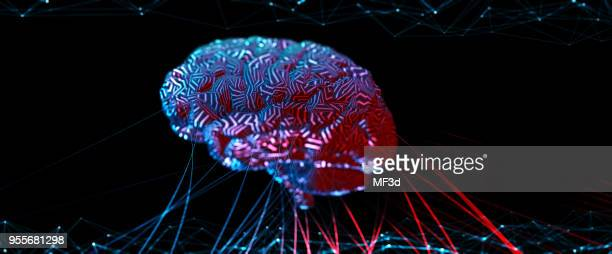 artificial intelligence concept - synapse stock photos and pictures
