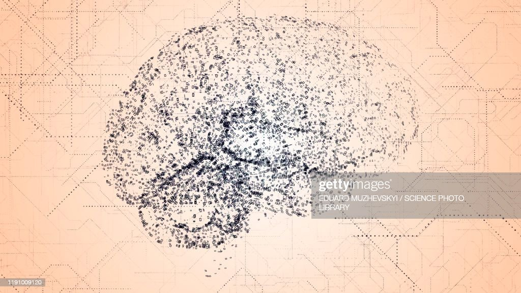 Artificial intelligence, conceptual illustration : Stock Photo