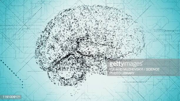 artificial intelligence, conceptual illustration - deep learning stock pictures, royalty-free photos & images