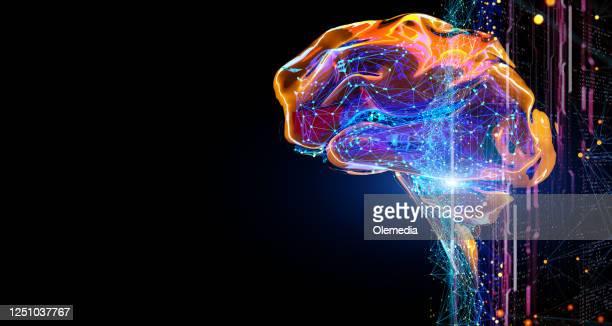 digitalt koncept för artificiell intelligens - hjärna bildbanksfoton och bilder