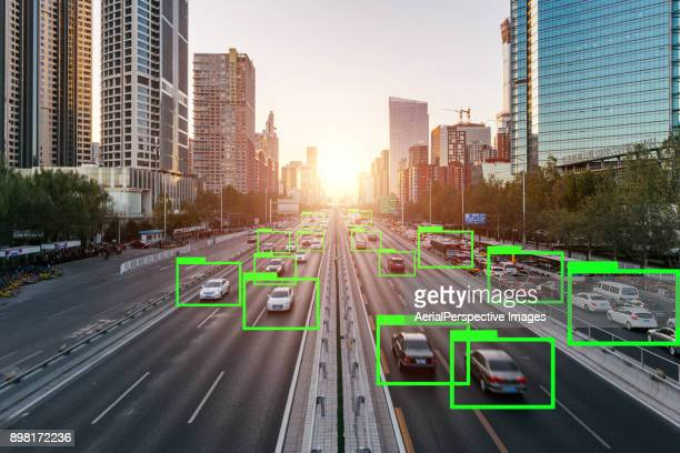 artificial intelligence of deep learning - driverless transport stock pictures, royalty-free photos & images