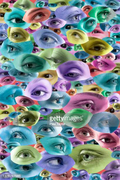 artificial intelligence - big brother orwellian concept stock pictures, royalty-free photos & images
