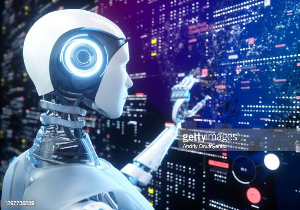 artificial intelligence robot - coding stock pictures, royalty-free photos & images