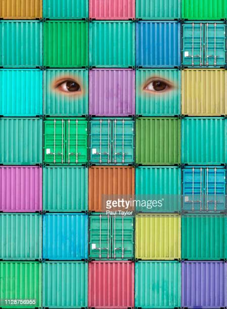 artificial intelligence shipping containers - avatar foto e immagini stock