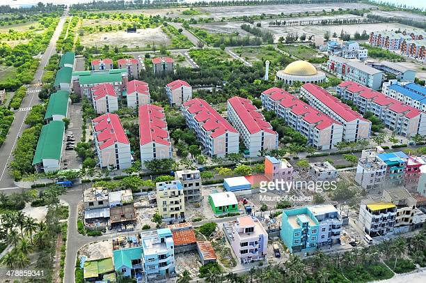 artificial island - hoofdstad stockfoto's en -beelden