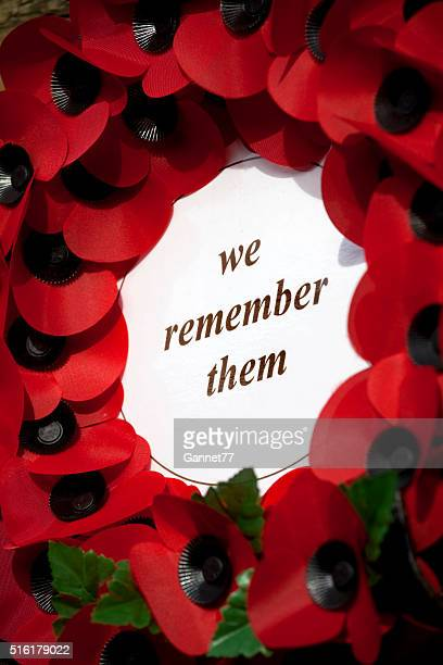 Artificial Poppies on a Remembrance Wreath