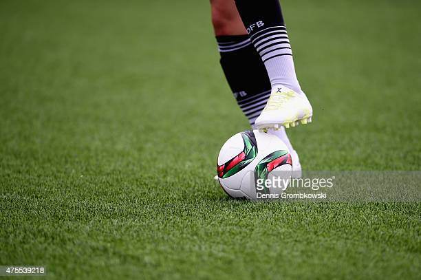 Artificial turf is seen during a training session at Richcraft Recreation Center on June 1 2015 in Ottawa Canada