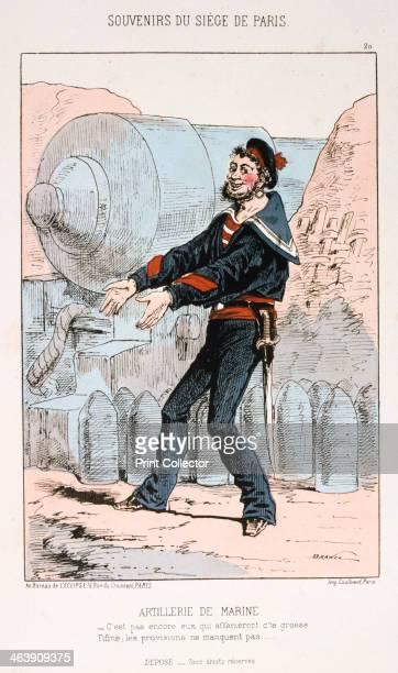 'Artillerie de Marine' Siege of Paris FrancoPrussian war 18701871 A naval gunner beside a large calibre artillery piece After the disastrous defeat...