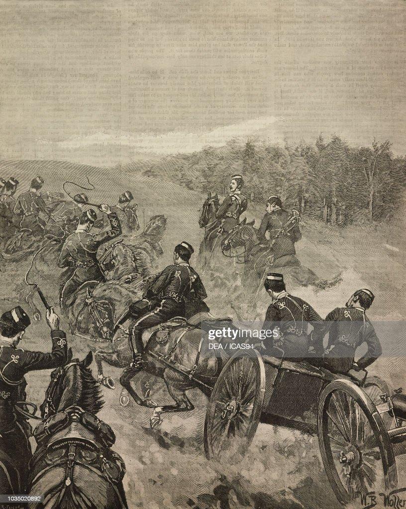 Artillery taking up position : ニュース写真
