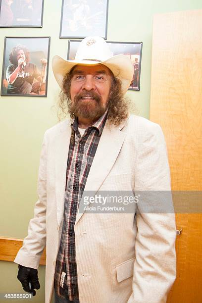Artimus Pyle of Lynyrd Skynyrd poses backstage during the 12th annual Make-A-Wish benefit concert at The Orange Peel on December 5, 2013 in...