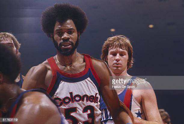 Artis Gilmore of the Kentucky Colonels on the court against the New York Nets