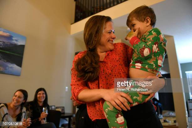 Artis Jacobsen has a giggle with her son Andy at her home on December 9 2018 in Arvada Colorado Twenty years ago Artis whose last name was Selby at...