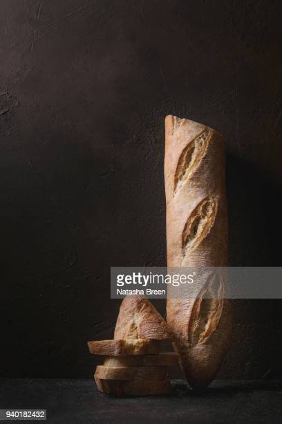 artisan baguette bread - artisanal food and drink stock pictures, royalty-free photos & images