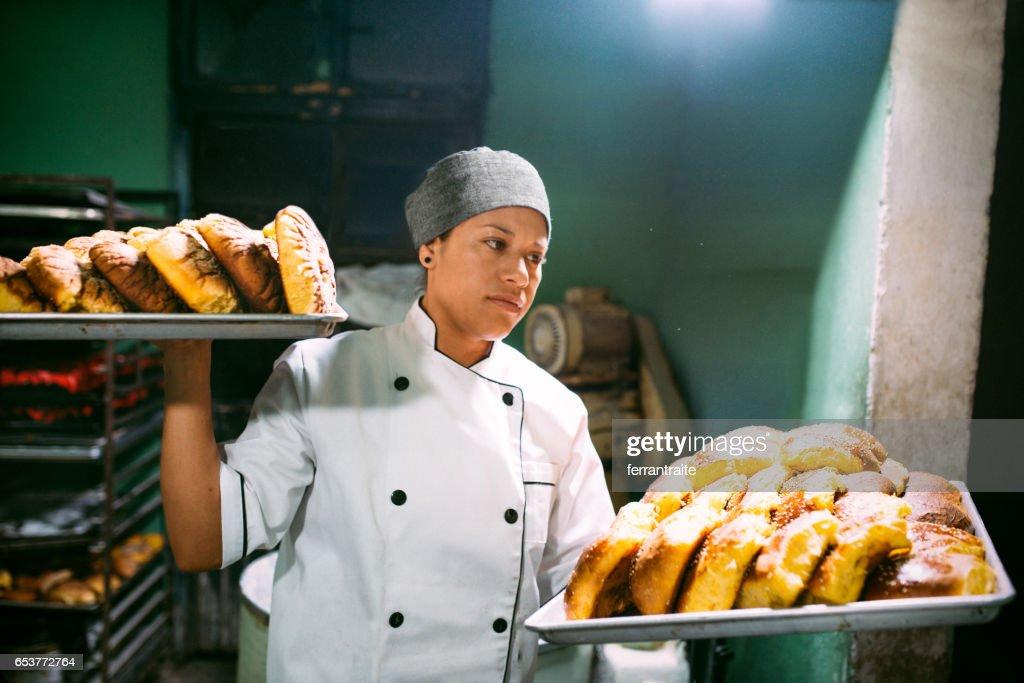 Artisan panadería : Foto de stock